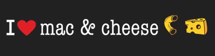 I Heart Mac and Cheese logo - long